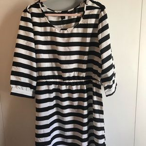 NWT Black and white striped dress